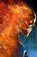 HUMAN TORCH sample by totmoartsstudio2
