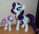 Sisters, Rarity and SweetieBelle by PonyCrafter