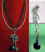 Double Chain Key Set by BloodRed-Orchid