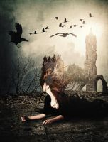 Flight of the Blackened Crows by elcrazy