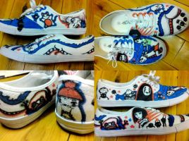 spirited away shoes by like-textas