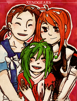 Xenogears - Fei, Elly and Emmy by Rin-Uzuki