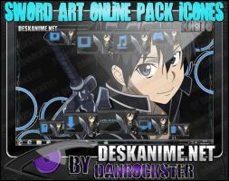 Kirito Pack Icons by Danrockster