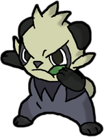 Pokemon X and Pokemon Y: Pancham by Coraige