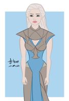 Emilia Clarke - Game of Thrones Daenerys Targaryen by howardshum