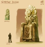Statue Dude by ZackF