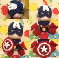 Captain America Sackboy by anjelicimp