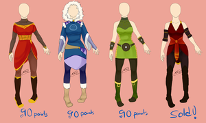 avatar: outfits by bluecrystals7