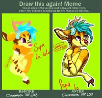 Draw this again meme! by Praquina