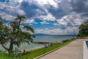 geneva lake at Nyon by Rikitza