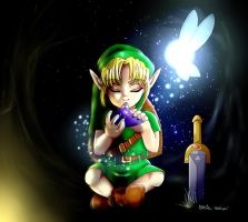 Young Link / The legend of zelda ocarina of time by Shugoii