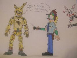 Night Guard Dett and springtrap - color + cameo by spyaroundhere35
