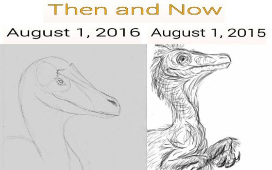 Then and Now 2015-2016 by FishFossil