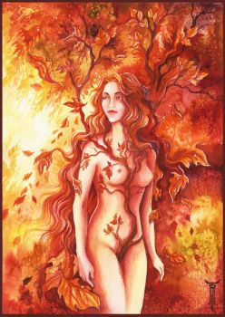 Autumn's Dryad by TrollGirl