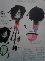 My invader Zim drawing sheet by Cutediepie