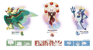 Starters Mega Evolutions by EstevaoPB