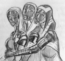 sketches Tali (101) by spaceMAXmarine