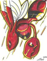 The flight of a Scizor by TheSonoftheDarkness