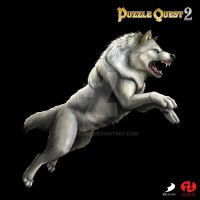 Puzzle Quest 2 - Tundra Wolf by Ashalind