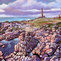 Goury light house, Normandy (soft pastel) by PatrickHENRY