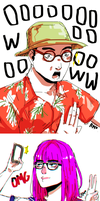 Filthy Frank Characters Doodle 2 by maikeru-mia