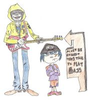 Murdoc and Wolf phase 1 by thenumba1spaz