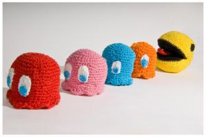 Pacman and Friends by Nurinu