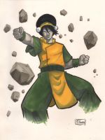 ANIME WEEKEND ATLANTA 2015 SKETCH: Toph Bie Fong by Shono