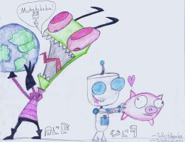 Zim and Gir by Annaley