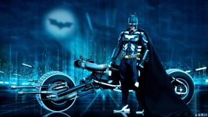 The Dark Knight TRON by AGENBOOMBER