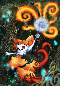 Braixen's Magic! by Mokka-Quill