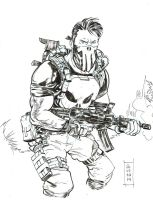 Punisher sketch by Dave-Acosta