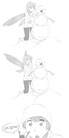 Erylia builds a snowman by MLeth