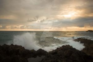 Laie Point Sunrise by flatowlphoto