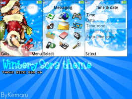 Wintery Sora theme K800i by Kemaru