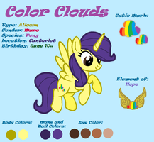 Color Clouds [Reference sheet] by LittleCloudie