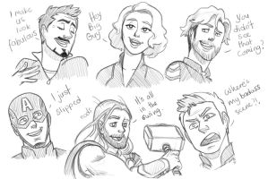 Age of Ultron sketches 2 by pencilHeadno7