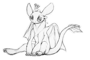 toothless chibi doodle by Foxbat-Sullavin