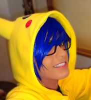 Pika!! blue again by geekyemoKun