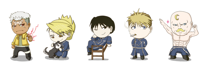 FMA Chibis by Geegs