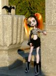 In the cemetery 3 by Bj-Lydia