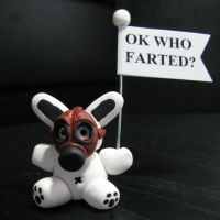 Bad Ass Bunny OK WHO FARTED by Devilish--Designs
