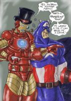 Top Hat Tony and Cap by GrymmBadger