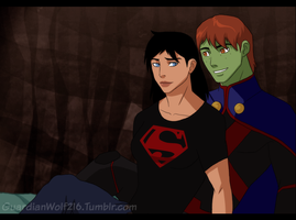 Young Justice - Genderbend - SuperMartian by WyldeElyn