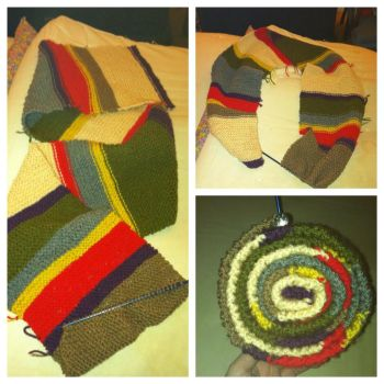 WIP Tom Baker Doctor Who Scarf by Voldenae