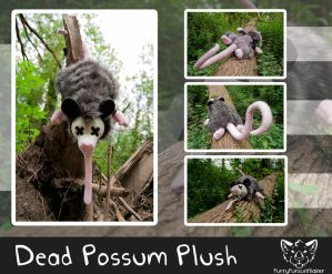 Dead Possum - plush by FurryFursuitMaker