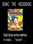 Sonic the blue armed hedgehog by funkyjeremi