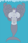 Muscle Mermaids - Sharaki The Mershark by Zarnon11