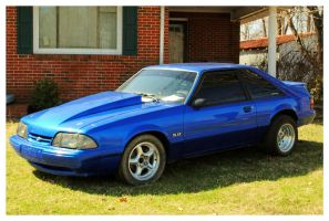 Electric Blue Mustang by TheMan268