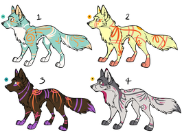 Assorted Canine Designs Batch 20 (CLOSED) by ChamberedNoctilus